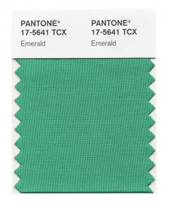 Pantone swatch of Emerald colour