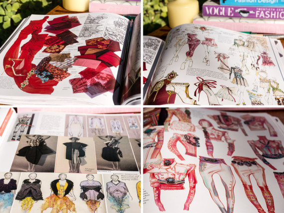 Fashion portfolio book by Anna Kiper, collage