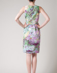 floral print, dress, summer dress, fitted, sleeveless