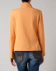 cardigan, spring essentials, orange top, knits, bright