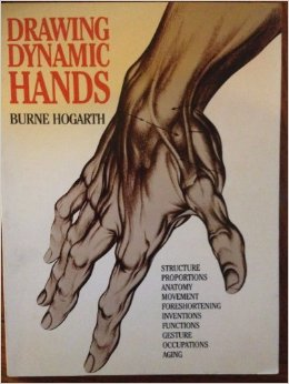 Cover of Drawing Dynamioc Hands by Burne Hogarth
