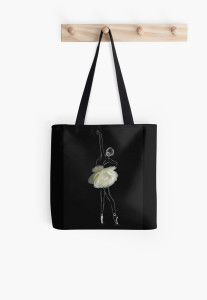 Flower ballerina shopping bag